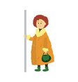 adult woman holds the handrail isolated vector image vector image