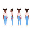 african american teenage girl or teenager wearing vector image