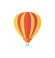 air balloon with a basket tourist vehicle striped vector image vector image