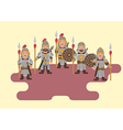 Ancient chinese soldier flat graphic vector image vector image