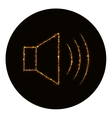 Audio speaker volume icon of gold lights vector image
