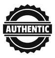 authentic logo simple style vector image
