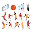 basketball isometric set vector image