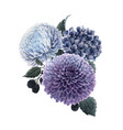 beautiful bouquet composition vector image
