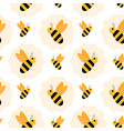 bees seamless pattern repeat background for honey vector image