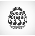 black and white decorative egg vector image vector image