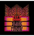 Black Friday sale colorful background vector image