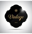 Black vintage frame vector image vector image
