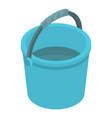 Blue plastic bucket icon isometric style