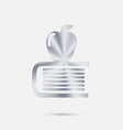 Books tower with apple icon vector image