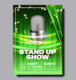 bright poster of stand up show in club vector image vector image