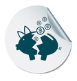 broken piggy Bank icon vector image