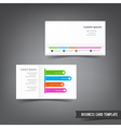 Business Card template set 032 clear style dot vector image vector image