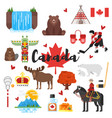 canadian national cultural symbols vector image vector image