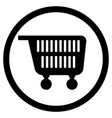 cart for supermarket icon black white vector image vector image