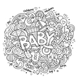 Cartoon hand drawn Doodle Baby vector image
