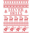 christmas pattern silver bells carol vector image vector image