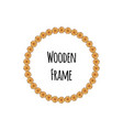 circle wooden frame of tree circle logs isolated vector image vector image