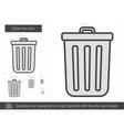 Clean bin line icon vector image