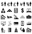 Collection flat icons Finance symbols
