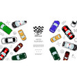 colorful automobiles top view template vector image vector image