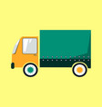 colorful delivery truck cartoon style vector image vector image