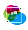 colorful quote frame colorful quote for vector image