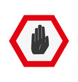 colorful warning metal notices with stop sign vector image vector image