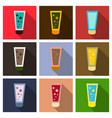 cream in tube icon flat of cream in tube icon for vector image vector image