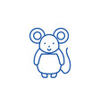 cute mouse line icon concept cute mouse flat vector image vector image