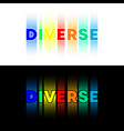diverse text typography design for banner poster vector image vector image