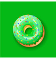 donut icing green upper latters - o font donuts vector image