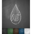 drop of blood AB icon vector image