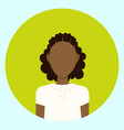 female avatar profile icon round african american vector image