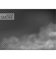 fog and smoke isolated on transparent vector image