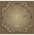 Frame of calligraphic patterns vector image vector image