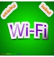 Free wifi icon sign Symbol chic colored sticky vector image