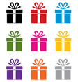 Gift box symbols