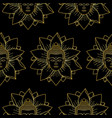 gold buddha and lotus seamless pattern vector image vector image