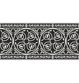 Gothic floral border vector image