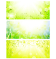 green fresh banners vector image vector image