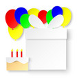 happy birthday greeting card paper cutting art vector image