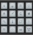icon set for science flat design style vector image