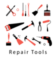 icon set repair tools vector image vector image
