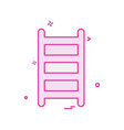 ladder icon design vector image