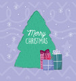 merry christmas celebration tree gift boxes vector image vector image