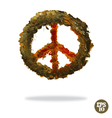 Oil painted peace symbol vector image vector image