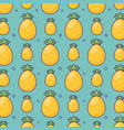 pineapple background design vector image vector image