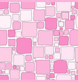 pink geometrical background with squares vector image vector image