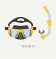 plain flat color diver underwater equipment vector image vector image